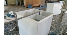 BIO FILTER TANK - L 4 FT X W 4 FT X H 50 ''  WITH 4 DIVIDERS = RM 1600 / UNIT ( $ 550 / UNIT )