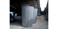 DIA 5 FT X H 8 FT FLAT BOTTOM C/W TOP COVER (WATER CAPACITY 4.5 TON)  =  Rm 1,950 / UNIT