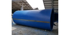DIA 8 X H 15 FT FLAT BOTTOM C/W TOP COVER (WATER CAPACITY 21.4 TON) = Rm 8,500 / UNIT