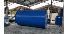 DIA 8 X H 13 FT FLAT BOTTOM C/W TOP COVER (WATER CAPACITY 18.6 TON) = Rm 7,500 / UNIT